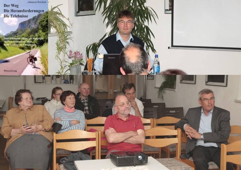 Autoren-Lesung über den Weg, die Herausforderung und die Erlebnisse des Schweinfurter Johannes Reichert im Mehrgenerationenhaus in Binsfeld.